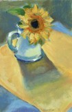 Sunflower in White Pitcher