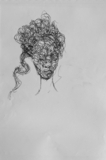 """Scribble Woman Head I"" ***SOLD"