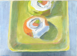 Sushi on Green Plate