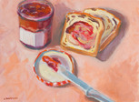 Raspberry Jam with Cinnamon Raisin Toast